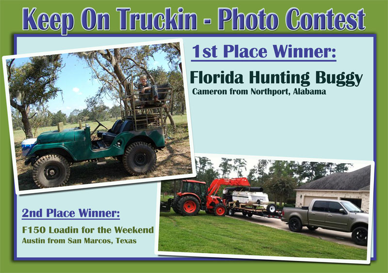 Truck Contest Winners